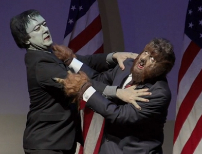FRANKENSTEIN MEETS THE WOLFMAN: THE PRESIDENTIAL DEBATE